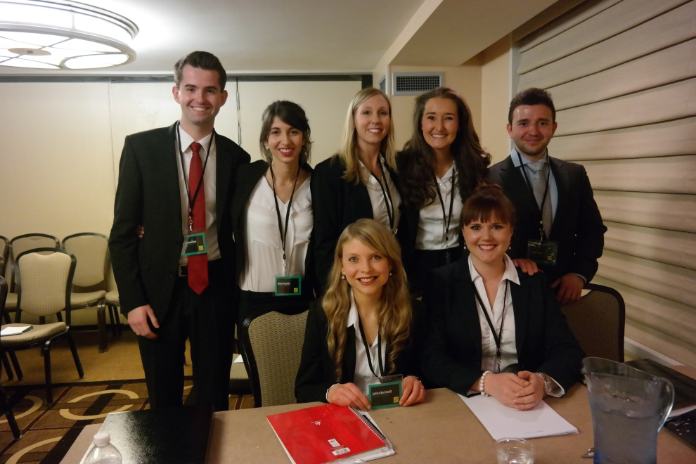 Das HU-Jessup-Team 2014/15, hier bei den National Rounds in Heidelberg